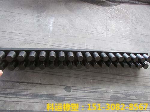 钢结构桥梁钉型氯丁橡胶减震板-科运良品钉型氯丁橡胶减震垫板厂家1
