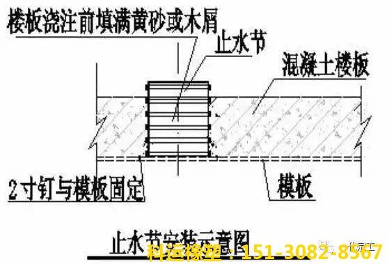 pvc预埋止水节,防水预埋套管,防水预埋套筒,管道直接预埋件3