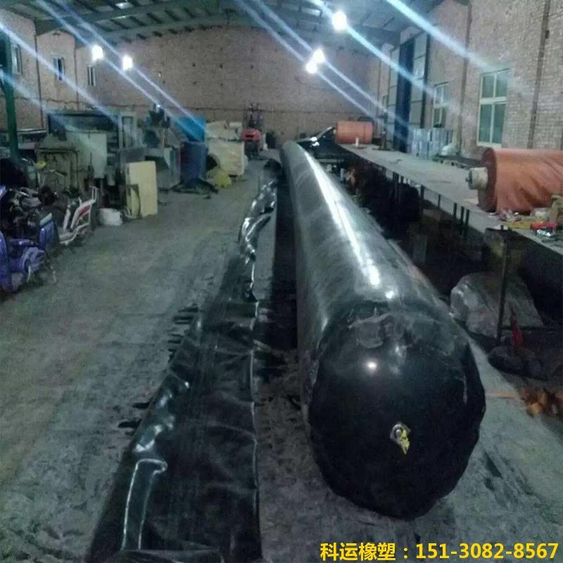 公路铁路隧道排水边沟充气芯模-科运橡塑隧道边沟橡胶气囊内模厂家批发1