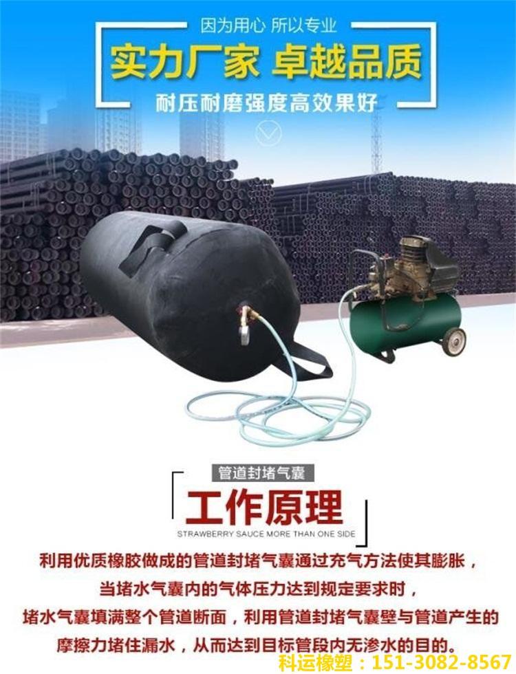 市政管道封堵气囊 堵水气囊 闭水试验气囊DN700/800/900现货4
