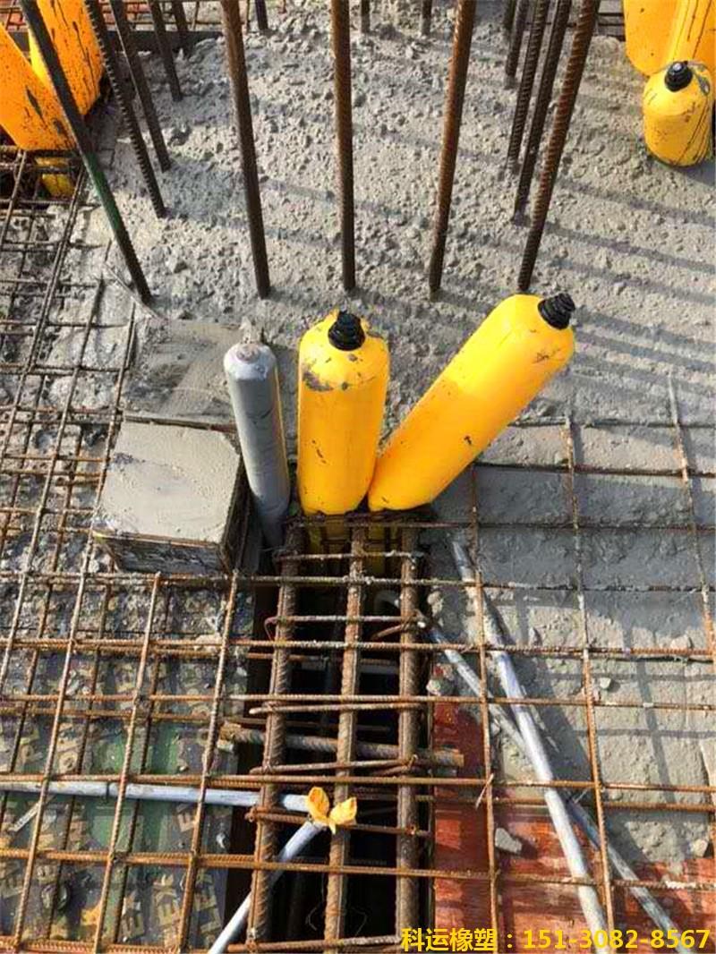 建筑梁柱节点核心区混凝土隔断拦茬气囊1