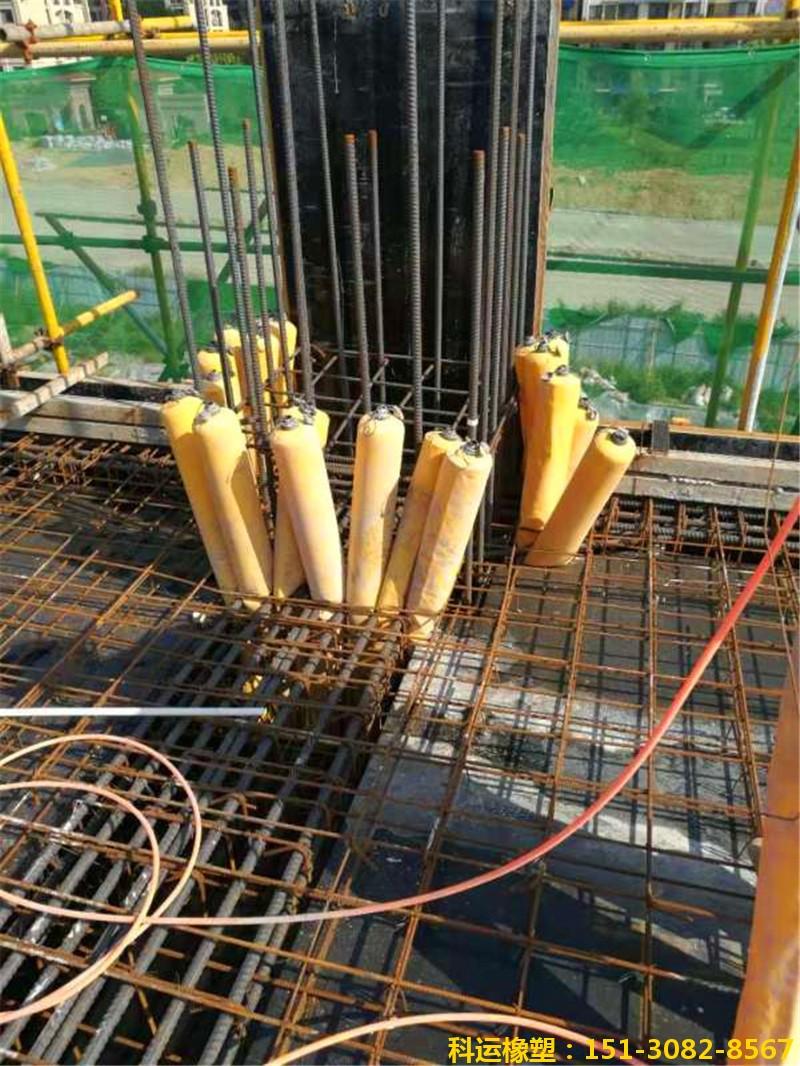 建筑梁柱节点核心区混凝土隔断拦茬气囊2