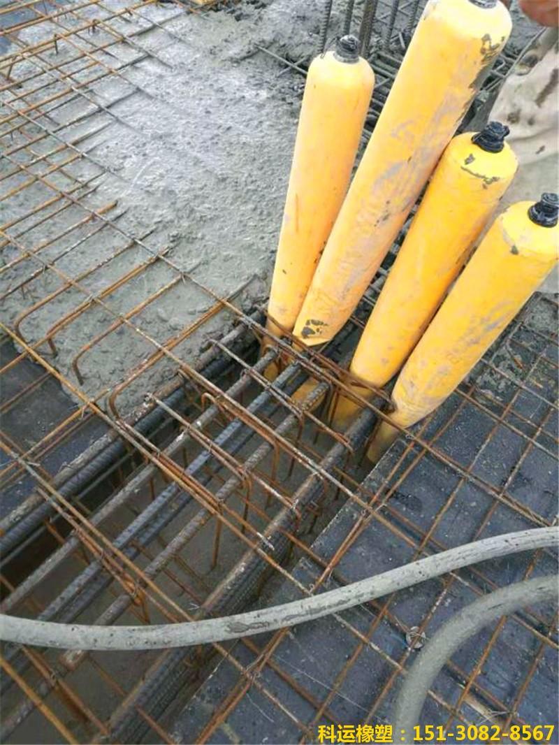 建筑梁柱节点核心区混凝土隔断拦茬气囊4