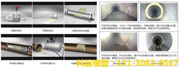 cipp管道修复树脂 管道点位内衬修复气囊 玻璃纤维布修复3